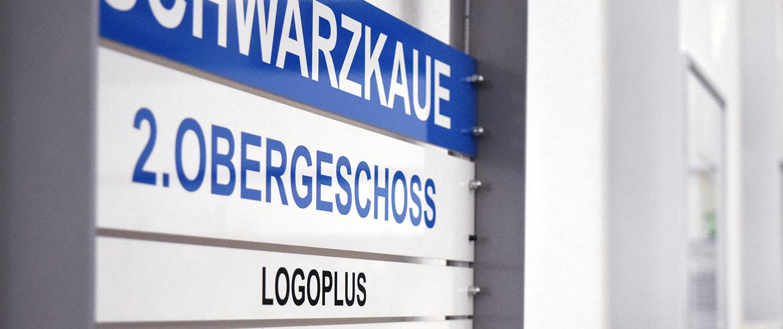 Logoplus Firmenschild